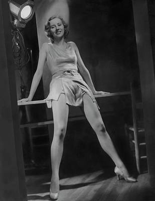 Photograph - Gertrude Mcdonald Posing Backstage On The Set by Horst P. Horst