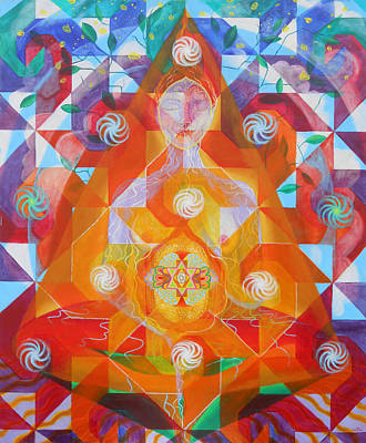 Metaphysical Painting - Gestation by Anne Cameron Cutri