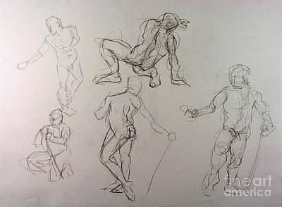 Gestures Of A Man Art Print by Andy Gordon