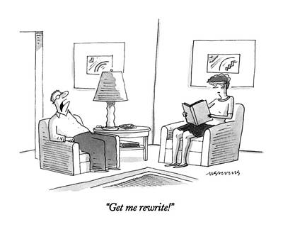 Sit-ins Drawing - Get Me Rewrite! by Mick Steven