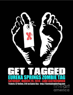 Eureka Springs Digital Art - Get Tagged At Eureka Springs Zombie Tag 2014 by Jeff Danos