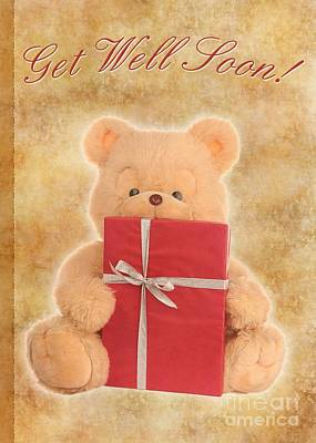 Digital Art - Get Well Bear by JH Designs