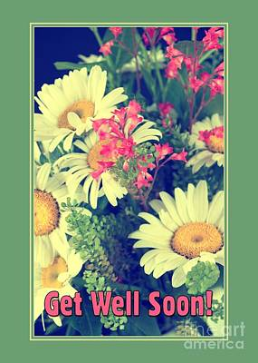 Digital Art - Get Well Lil Bouquet by JH Designs