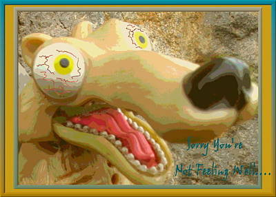 Friendly Digital Art - Get Well Soon Wolf by Joyce Dickens