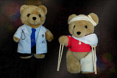 Photograph - Get Well Teddy 01 by Kevin Chippindall