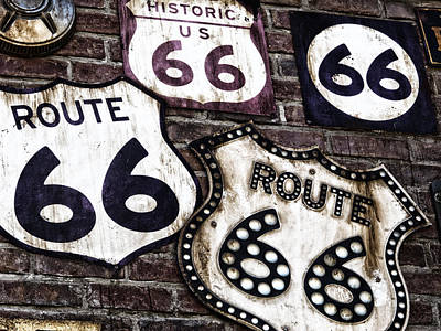 1940-1980 Retro-styled Imagery Photograph - Get Your Kicks On Route 66  by Carter Jones