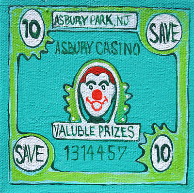 Asbury Park Casino Painting - Get Your Ticket by Patricia Arroyo