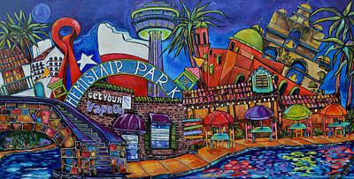 Get Your Vape On San Antonio Art Print by Patti Schermerhorn