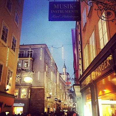 Mozart Photograph - #getreidegasse, La Strada Del #café by Prenota Per Due