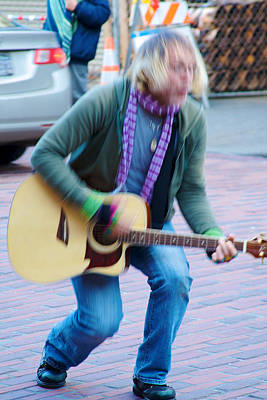 Photograph - Gettin Down - Street Musician In Seattle by Jane Eleanor Nicholas