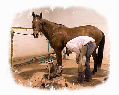 Working Cowboy Photograph - Getting All Spruced Up by Lois Lake
