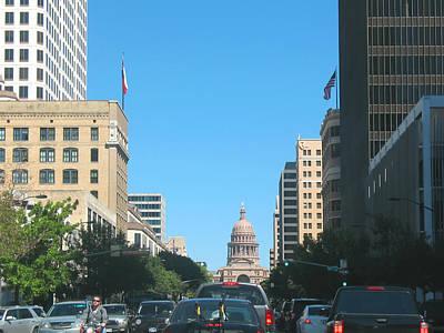 Getting Around In Austin Texas Art Print by Connie Fox