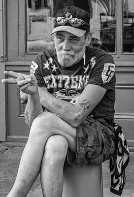 Zz Photograph - Getting By Bw by Steve Harrington