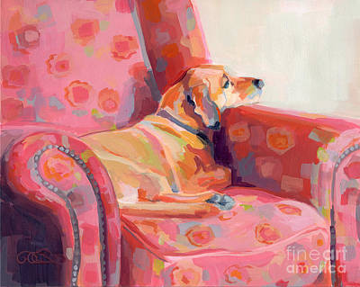 Rescue Pet Painting - Getting Cozy by Kimberly Santini