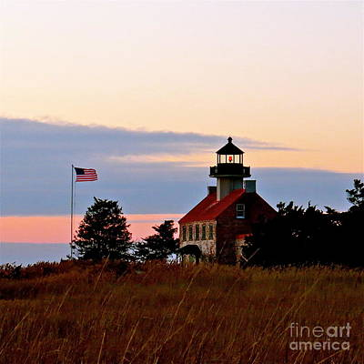 Photograph - Getting Dark At East Point Light by Nancy Patterson