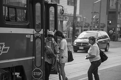Photograph - Getting Off The Trolley by John McGraw