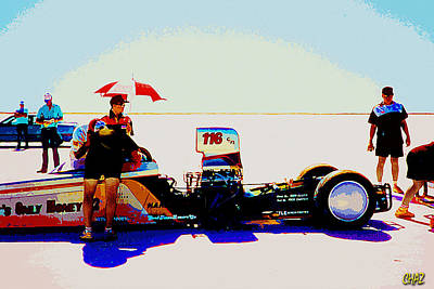 Salt Flats Painting - Getting Ready For The Run by CHAZ Daugherty