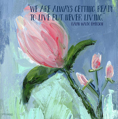 Getting Ready To Live Print by Pamela J. Wingard