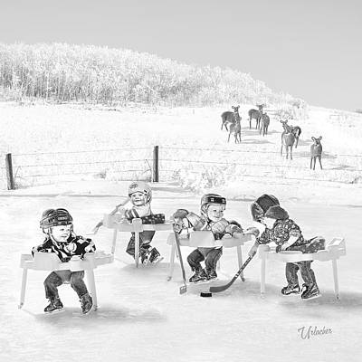 Minor Hockey Digital Art - Getting Started Young by Elizabeth Urlacher