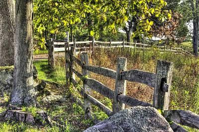 Art Print featuring the photograph Gettysburg At Rest - Late Summer Along The J. Weikert Farm Lane by Michael Mazaika