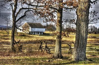 Art Print featuring the photograph Gettysburg At Rest - Winter Edward Mc Pherson Farm by Michael Mazaika