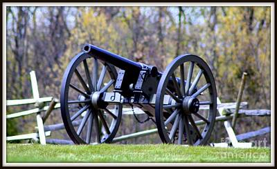Art Print featuring the photograph Gettysburg Battlefield Cannon by Patti Whitten