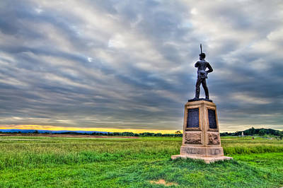 Sunset Photograph - Gettysburg Battlefield Soldier Never Rests by Andres Leon