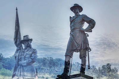 Gettysburg Battlefield Statues Art Print by Randy Steele