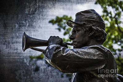 Photograph - Gettysburg Bugler by Phil Cardamone