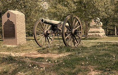 Photograph - Gettysburg Cannon   by Dyle   Warren