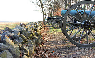 Bath Time Rights Managed Images - Gettysburg Cannons  1282 Royalty-Free Image by Jack Schultz