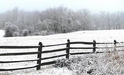 Split Rail Fence Photograph - Gettysburg In January by Angela Davies