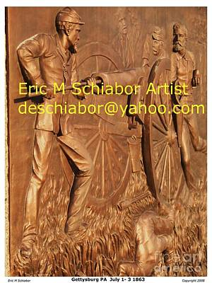 The General Lee Digital Art - Gettysburg  Pa  July 1-3 1863 by Eric  Schiabor