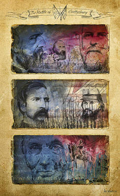 Art Print featuring the digital art Gettysburg Tribute by Joe Winkler