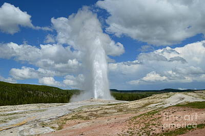 Photograph - Geyser In The Clouds by Johanne Peale