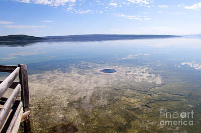 Photograph - Geyser Outlet In Yellowstone Lake by Brenda Kean