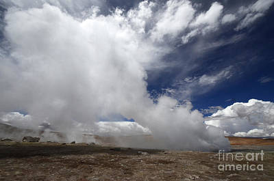 Photograph - Geyser Sol De Manana Bolivia 2 by Bob Christopher