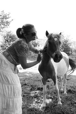 Photograph - Gg And Her Horse by Thomas Leon