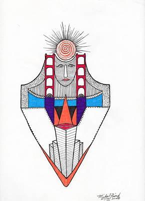 G.g. Bridge Over City Art Print by Michael Friend