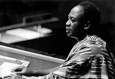 Speaking Photograph - Ghana President Kwame Nkrumah by Underwood Archives