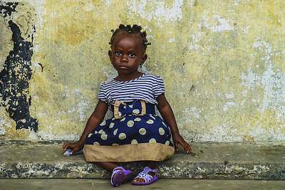 Photograph - Ghanaian Child by Roberto Pagani