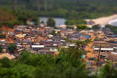 Town Photograph - Ghanaian Village by Samuel Whitton