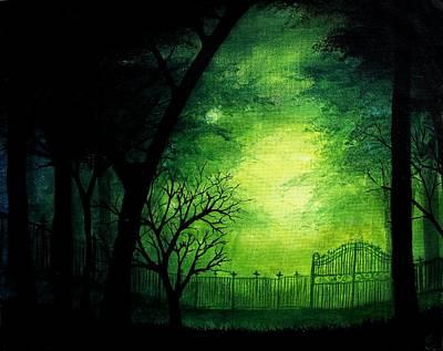 Ghastly Gate Art Print by Erin Scott