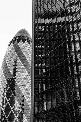 Black Commerce Photograph - Gherkin Architecture by Pati Photography