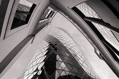 Glass Wall Photograph - Gherkin by Dragan Jovancevic