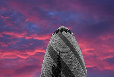 Citylife Photograph - Gherkin London by Martin Newman