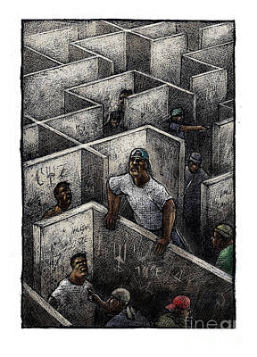 Ghetto Art Print by Chris Van Es