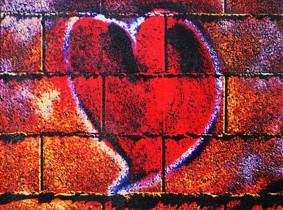Encaustic Painting - Ghetto Valentine by Michael Jewel Haley