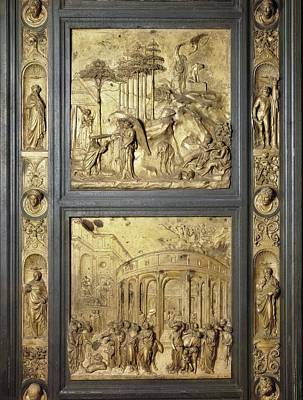 Ghiberti, Lorenzo 1378-1455. The Gates Art Print