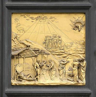 Noahs Ark Photograph - Ghiberti's Panel Of Noah by Sheila Terry